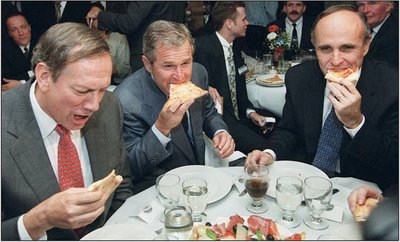 george bush rudy gliani eating