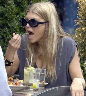 fergie eating