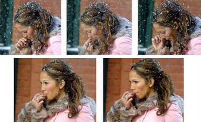 Jennifer Lopez J-Lo eating